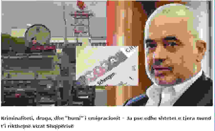 «Τελειώνουν» την Αλβανία! Μετά την Ολλανδία και άλλα τέσσερα κράτη της ΕΕ θα επιβάλουν βίζα