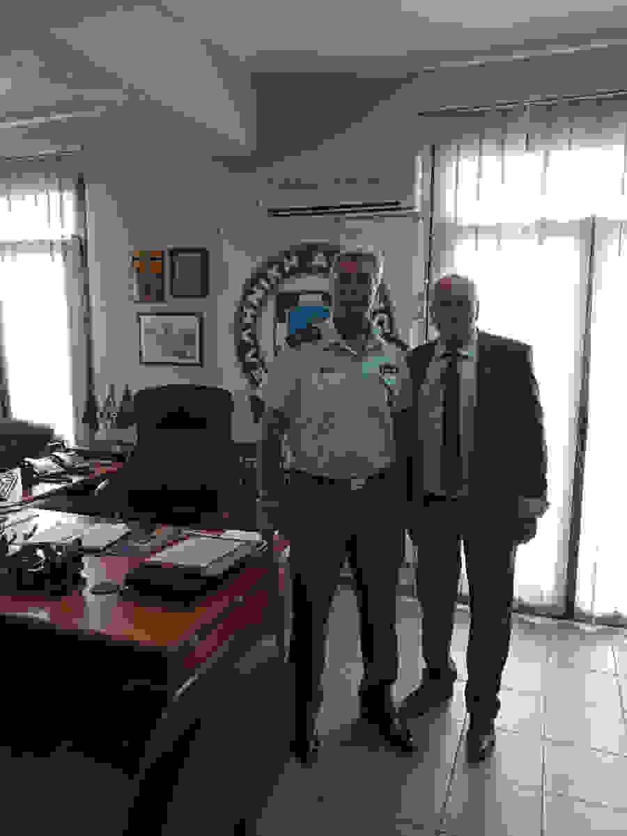 Το νέο Διευθυντή της Διεύθυνσης Αστυνομίας Ημαθίας Αστυνομικό Διευθυντή  ΚΟΥΓΚΑ Διονύσιο επισκέφθηκε σήμερα το πρωι ο πρόεδρος του Δικηγορικού  Συλλόγου Ημαθιας κ. Καραβασιλης Φώτιος