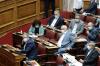 Το Ελληνικό Κοινοβούλιο υπάκουσε πιστά τις εντολές Χαρδαλιά. Όλοι φόρεσαν μάσκες