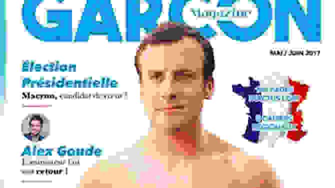 Ημίγυμνος ο Μακρόν σε εξώφυλλο gay περιοδικού - ΦΩΤΟ