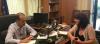 Η Φρόσω Καρασαρλίδου με τον γ.γ. Μεταφορών για τον Προαστιακό Σιδηρόδρομο Ημαθία – Θες/νίκη