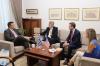 Συνάντηση του Α. Τζιτζικώστα με τον Πρέσβη και τον νέο Γενικό Πρόξενο των ΗΠΑ