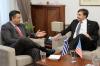 Συνάντηση του Περιφερειάρχη Κεντρικής Μακεδονίας Απόστολου Τζιτζικώστα με τον β. Αναπληρωτή Υπουργό Εξωτερικών των ΗΠΑ Matthew Palmer