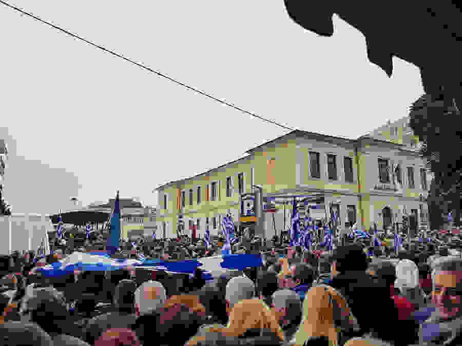 Βροντερό παρόν στο συλλαλητήριο της Βέροιας για τη Μακεδονία